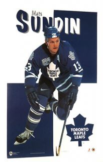 MATS SUNDIN TORONTO MAPLE LEAFS POSTER FROM 1997 NHL HOCKEY 22 BY 34