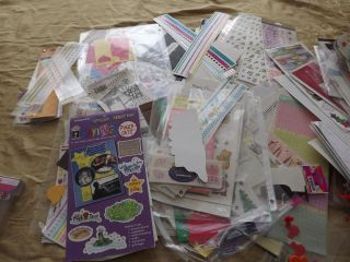 Big Lot of Scrapbooking Stickers Accessories Etc