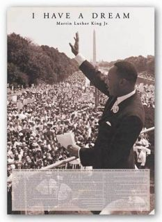 Art Poster Dr Martin Luther King Jr I Have A Dream