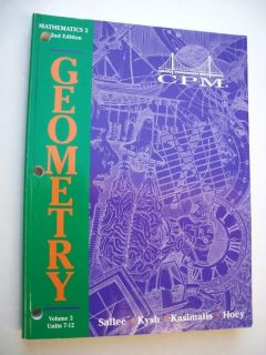 Geometry Mathematics 2 2E Sallee CPM Math 10th Grade 10 1885145543