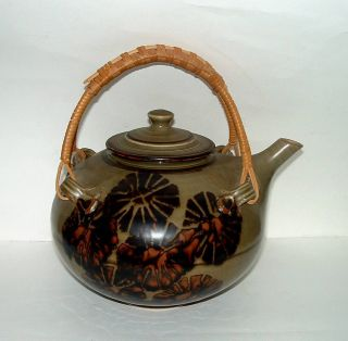 Artist Signed Ceramic Teapot by Tim Mather