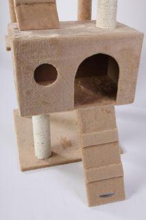 72 Beige Cat Tree Condo House Scratcher Pet Furniture Bed 13