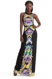 * BCBG Bt Chambray Combo Jersey Maxi Dress (NO BELT) XS $278 RBS6I745