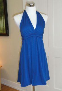 Matty M Anthropologie Goddess Babydoll Halter Jersey Knit Dress 4 6 S
