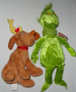 Kohls Cares for Kids Dr Suess Seuss Grinch Dog Max Plush Stuffed Toys