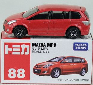 Tomy Tomica Matchbox No 88 Mazda MPV Red Diecast Car
