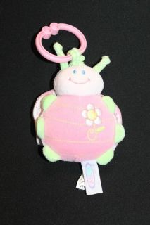 Mary Meyer Baby Pink Ladybug Rattle Jitter Stroller Toy