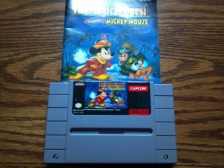 The Magical Quest starring Mickey Mouse (WITH MANUAL) (Super Nintendo