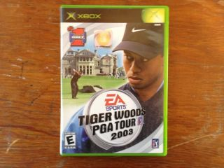 Tiger Woods PGA Tour 2003 Xbox 2002 Case and Manual Only No Game