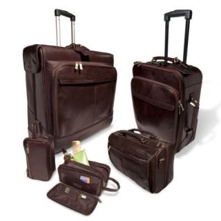 Italian 5 Piece Leather Luggage for Maserati Coupe