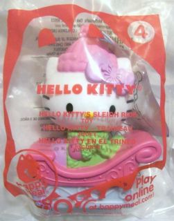 2011 McDonalds Happy Meal Toy Sanrio Hello Kitty 4 Hello Kitty Sleigh