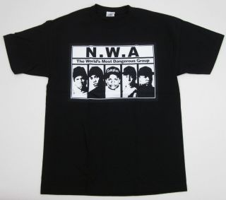 Hip Hop Rap NWA Ice Cube Dr Dre Eazy E DJ Yella MC Ren Tee s XL