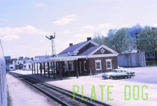 Original Slide, Chesapeake & Ohio Maysville KY Train Station, Vintage