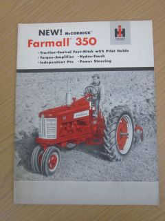 INTERNATIONAL HARVESTER MCCORMICK FARMALL 350 TRACTOR COLOR BROCHURE
