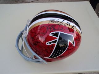 FALCONS TEAM SIGNED F/S HELMET MATT RYAN TONY GONZALEZ + PROOF & COA