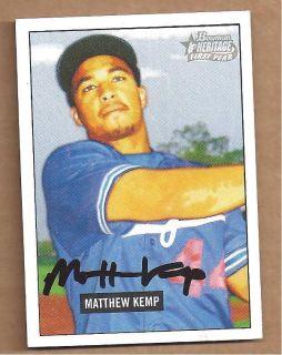 Matt Kemp 2005 Bowman Heritage Rookie autograph auto signed RC card
