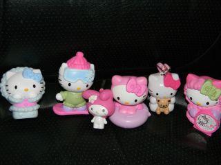 HELLO KITTY FIGURE TOYS LOT~ CAKE TOPPERS~ FUN MCDONALDS HELLO KITTY