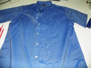 McDonalds Uniform Button Up Short Sleeve Shirt XL x Large Cotton Poly