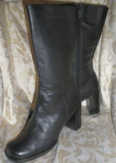 Me Too Knee High Riding Boots Black Leather 8 Savoy