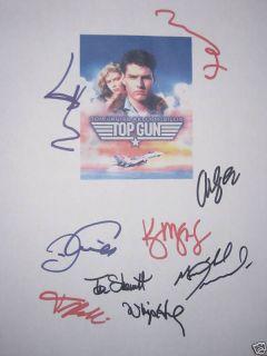 Signed Movie Script X9 Tom Cruise Val Kilmer Meg Ryan McGillis reprint
