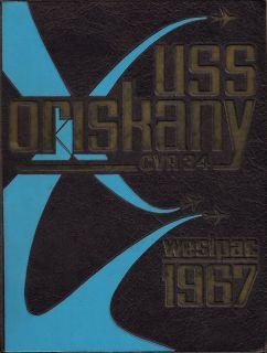 34 Vietnam War Deployment Cruise Book Year Log 1967 J McCain