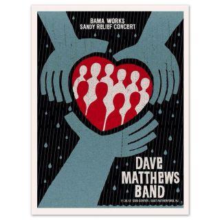 Dave Matthews Band Poster Izod Center E Rutherford NJ 11 30 12 Bama