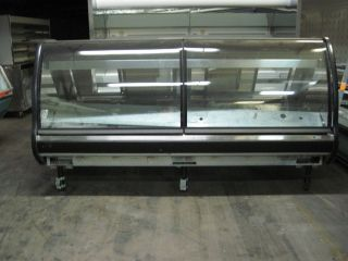 Seafood or Meat Case Tyler Gravity Coil Curved Glass Display