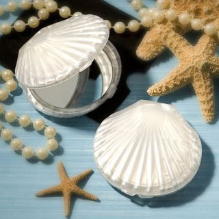 Seashell Design Resin Pocket Compact Mirror Party Favor