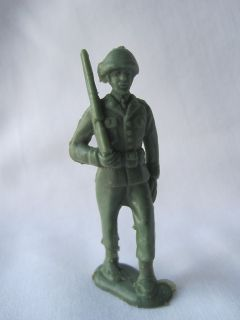 Vintage Green Plastic Military Army Soldier Toy