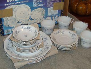 NEW 20 PIECE SET Johann Haviland Bavaria Germany Blue Garland Dishes