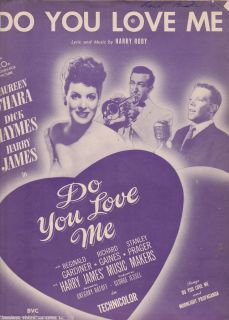 You Love Me words and piano sheet music 1946 Harry James Maureen OHara