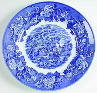 Wood Sons English Scenery Blue Plate 10 1 4 4257424