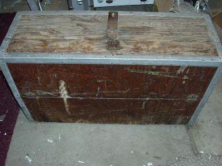 Vtg Old Wood Tool Box Chestcarpenter Storage