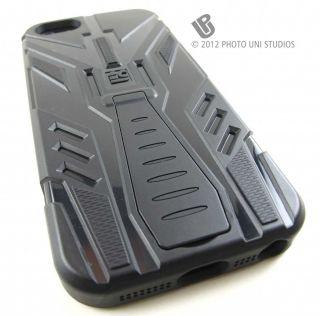 BLACK TRI MAX IMPACT HYBRID HARD CASE COVER APPLE IPHONE 5 6TH GEN