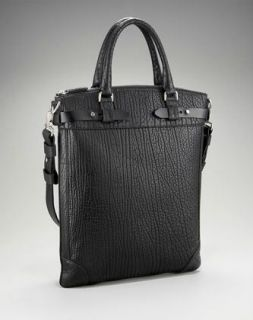 Ferragamo Mens Black Leather Maxime Tote Carry on Bag $2300