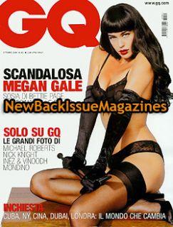 Italian GQ 10 06 Megan Gale Elle Macpherson USA RARE