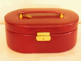 Wolf Designs Genuine Leather Jewelry Box Organizer Maroon Purple Red