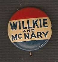 Willkie McNary Original Campaign Button