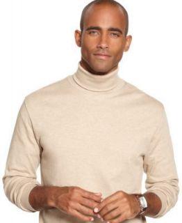 John Ashford Mens Sweaters XL Interlock Turtleneck White Long Sleeve