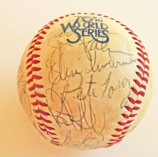 1979 Baltimore Orioles World Series Autograph Signed Baseball 22