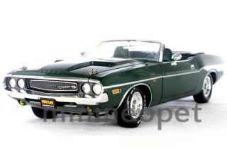 12841 1970 DODGE CHALLENGER HEMI CONVERTIBLE MECUM AUCTIONS 1 18 GREEN
