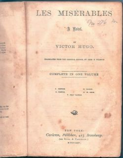 Les Miserables IDD 1864 U s Civil War Prison Book Johnsons Island Oh
