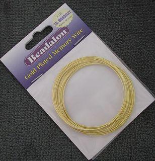 Beadalon Gold Plated Large Bracelet Size Memory Wire