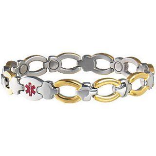 New Ladies Magnetic Medical ID Bracelet Diabetes Alert Wallet Card