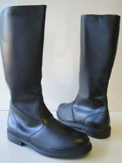 Mens Black Riding Boots Jedi Renaissance Colonial Pirate Captain Boots