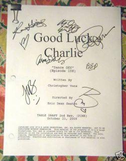 Autographed Good Luck Charlie Script Bridgit Mendler