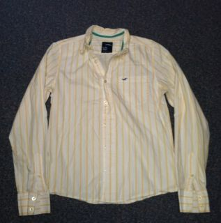 Hollister Mens Button Down Long Sleeve Casual Shirt Sz Medium White