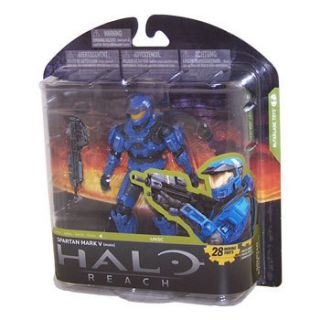 McFarlane Toy Action Figure Halo Reach 4 Spartan Mark V Male Blue