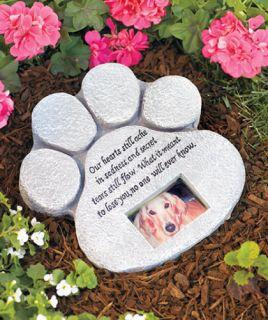 Paw Print Memorial Stone