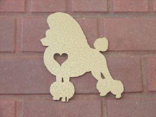 Poodle Pet Dog Memorial Garden Yard Lawn Ornament K9